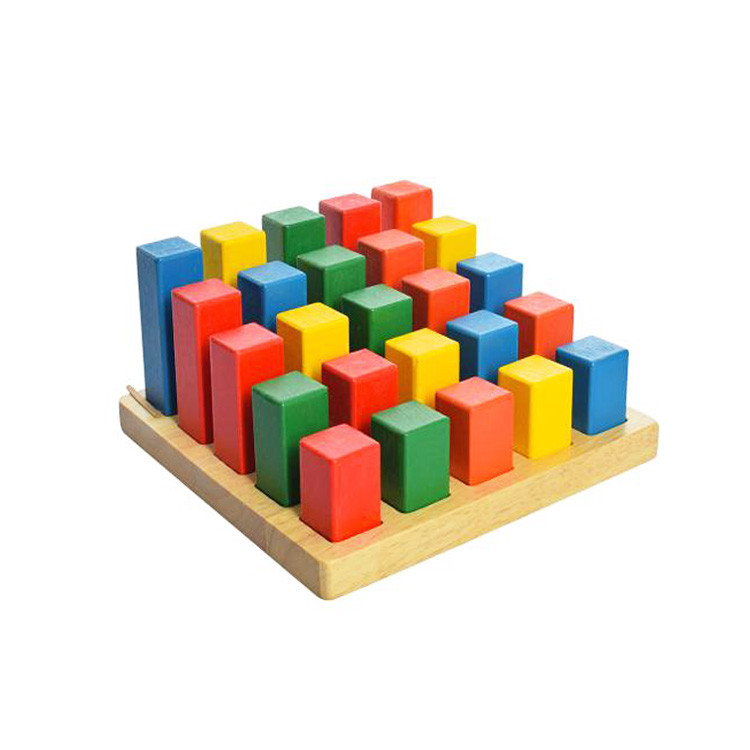 Геометрические блоки «Квадрат», деревянная игрушка.