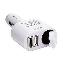 Автомобильная USB зарядка от прикуривателя VST-813, 12V , 2 USB