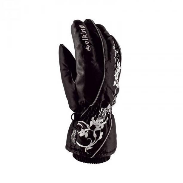 Рукавиці гірськолижні жіночі Viking Neomi 5 XXS Чорний 09, фото 2