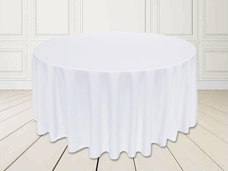 Скатертина Біла Ø 330см Банкетна Туреччина Сервіровка на стіл 180см звисання 75см
