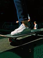 Кроссовки белые с черным задником Адидас Стен Смит, фото 1