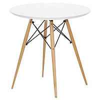 Стол обеденный SDM Тауэр Вуд круглый 60 см Белый 66314, КОД: 1861459