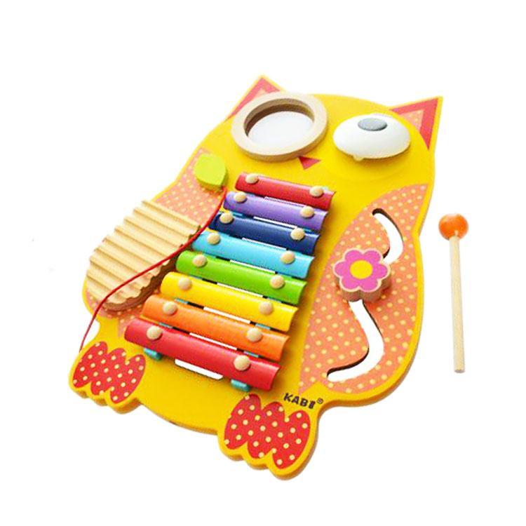 Домашний музыкальный оркестр «Сова», деревянная игрушка.