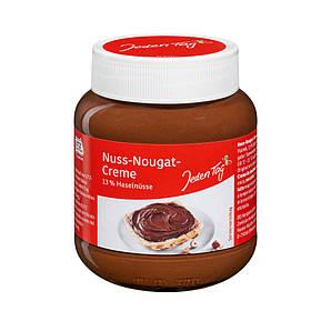 Паста JEDEN TAG Nuss-Nougat-Creme, горіхова, 400г, 12шт/ящ