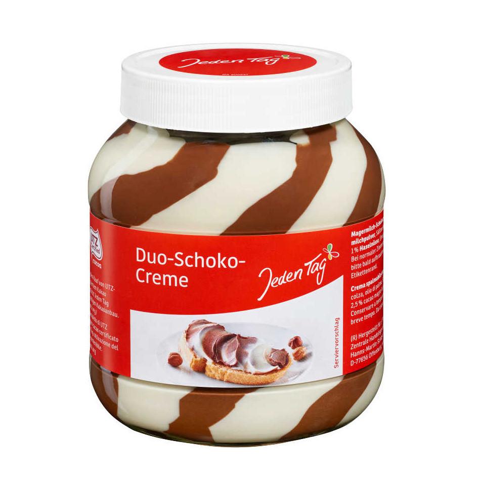 Паста JEDEN TAG Duo-Schoko-Creme, шоколадна, 750г, 8шт/ящ