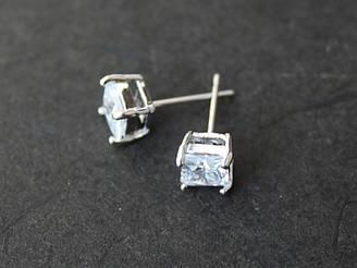 Пуссеты Сияние 6мм квадрат, кристалл