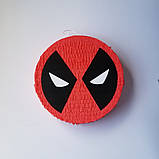 Піньята паперова для свята Дедпул Deadpool піньята форма барабан 40 см * 12 см, фото 2