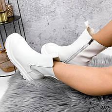 Ботинки женские белые, демисезонные из эко кожи. Черевики жіночі білі з еко шкіри утеплені, фото 3