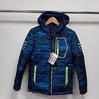 Зимняя детская куртка на мальчика 140-146 152