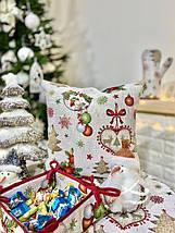 "Скатерть новогодняя гобеленовая тканевая ""Святкова вечеря"" 137 х 240 см скатертина новорічна гобеленова, фото 2"