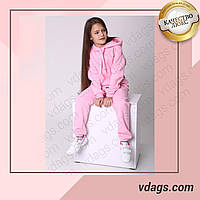 Тёплый спортивный костюм с капюшоном для девочки подросток в стиле оверсайз