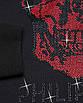 Свитшот осень-зима мужской черный с красн PHILIPP PLEIN со стразами #55 BLK/RED XL(Р) 21-506-003, фото 3