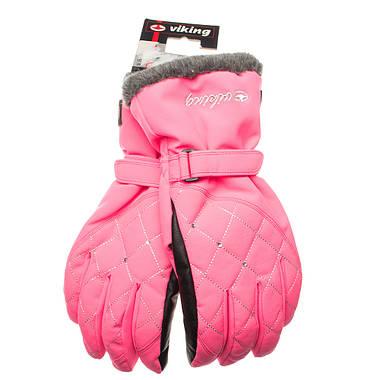Рукавиці гірськолижні жіночі Viking Crystal 6 XS Рожевий 46, фото 2