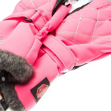 Рукавиці гірськолижні жіночі Viking Crystal 6 XS Рожевий 46, фото 3