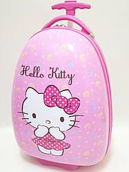 Детский чемодан дорожный на колесах Hello Kitty-2