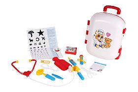 Детский игровой набор Маленький доктор ТехноК 4753 | Детский медицинский набор в чемодане