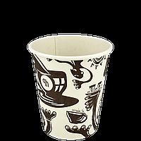 "Одноразовый стакан, серия Afrika bamboo, 350мл. Евро, 50шт/уп (1ящ/20уп/1000шт) под крышку FiB90/""РОМБ"", фото 1"