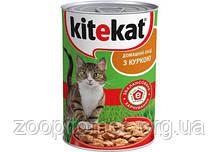 Влажный корм для кошек Kitekat (Китикет) консерва курица в соусе, 400 г