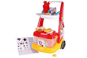 Детский игровой набор Маленький доктор ТехноК 6504 | Детский медицинский набор с коляской
