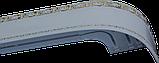 Лента декоративная на карниз, бленда Ажур 3 Белый 70 мм на усиленный потолочный карниз КСМ, фото 2