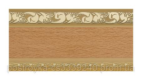 Лента декоративная на карниз, бленда Ажур 3 Бук 70 мм на усиленный потолочный карниз КСМ