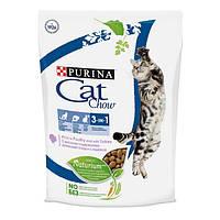 Cat Chow (Кэт Чау) 3 в 1 - корм для взрослых кошек с индейкой, 1.5кг