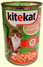 Вологий корм для кішок Kitekat (Кітікет) консерва качка в желе, 400 г