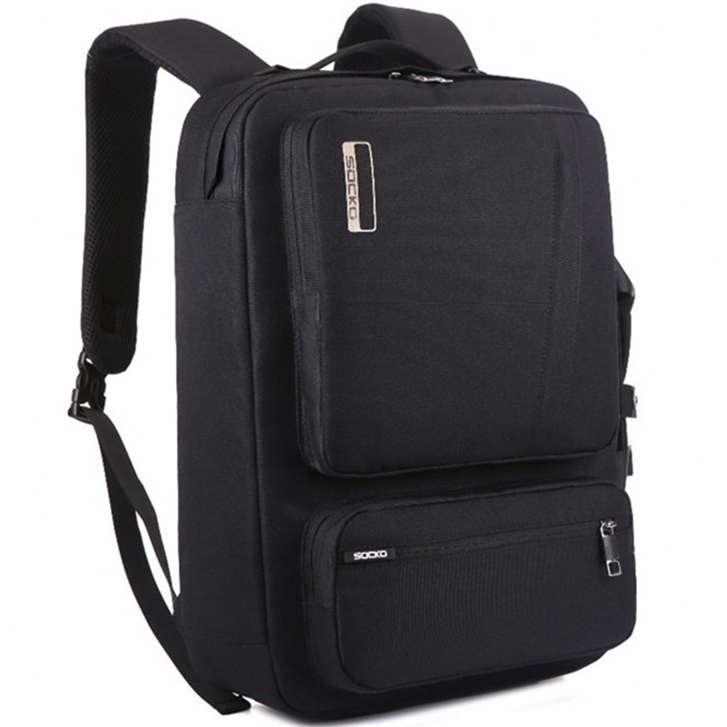 Многофункциональная бизнес сумка-рюкзак для ноутбука от 15 до 17 дюймов SOCKO.