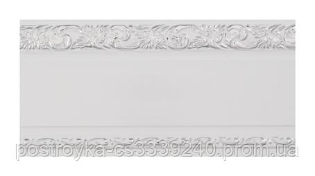 Лента декоративная на карниз, бленда Ажур 3 Хром 70 мм на усиленный потолочный карниз КСМ