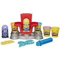 Пластилин Play-Doh (Плей до) Игровой набор Миньйоны в парикмахерской  Hasbro (Хасбро)