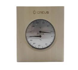 Термогігрометр Greus 16х14,5 липа для лазні та сауни