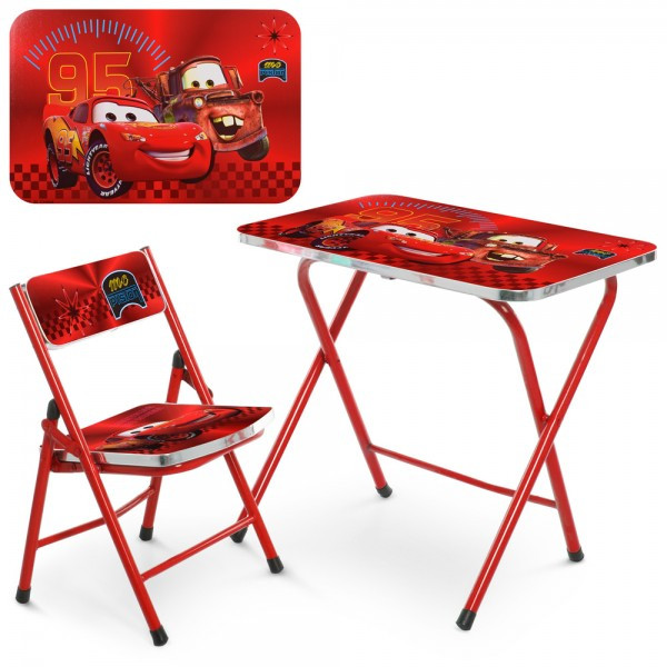 Детский складной металический столик со стульчиком (A19-MQ)
