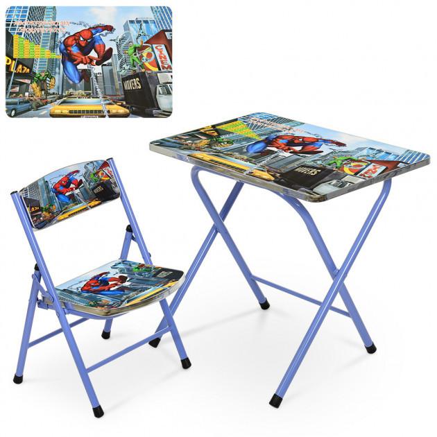 Детский складной металический столик со стульчиком (A19-SP)
