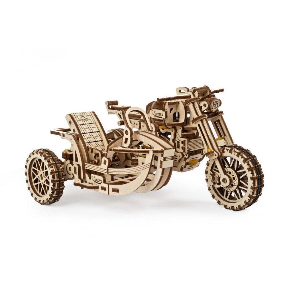 Механический 3D пазл Мотоцикл Scrambler UGR-10 с коляской UGEARS