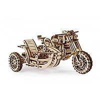Механический 3D пазл Мотоцикл Scrambler UGR-10 с коляской UGEARS, фото 1