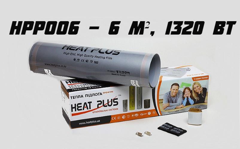 """Комплект """"Тепла підлога"""" серія преміум НРР006 (6 м², 1320 Вт)"""