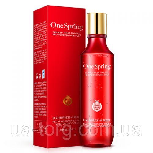 Тонер ONESPRING Derived From Natural Red Pomegranate Pulp с экстрактом граната 150 мл