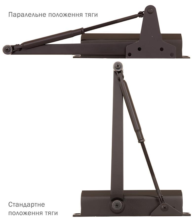 Доводчик накладной Ryobi D-1200P(U) BC UNIV_ARM до 80 кг Темная-бронза