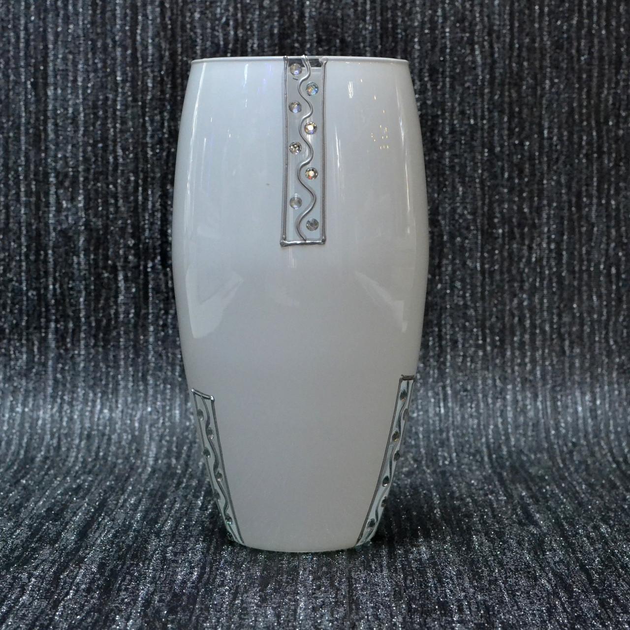 Ваза стекло скло белая