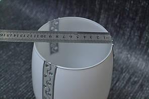 Ваза стекло скло белая, фото 2