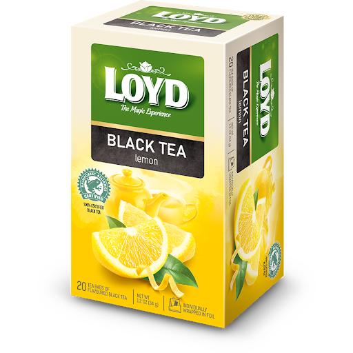 Чай чорний LOYD Black lemon (новий) зі смаком лимона, 34г (20пак.), 8 шт/уп