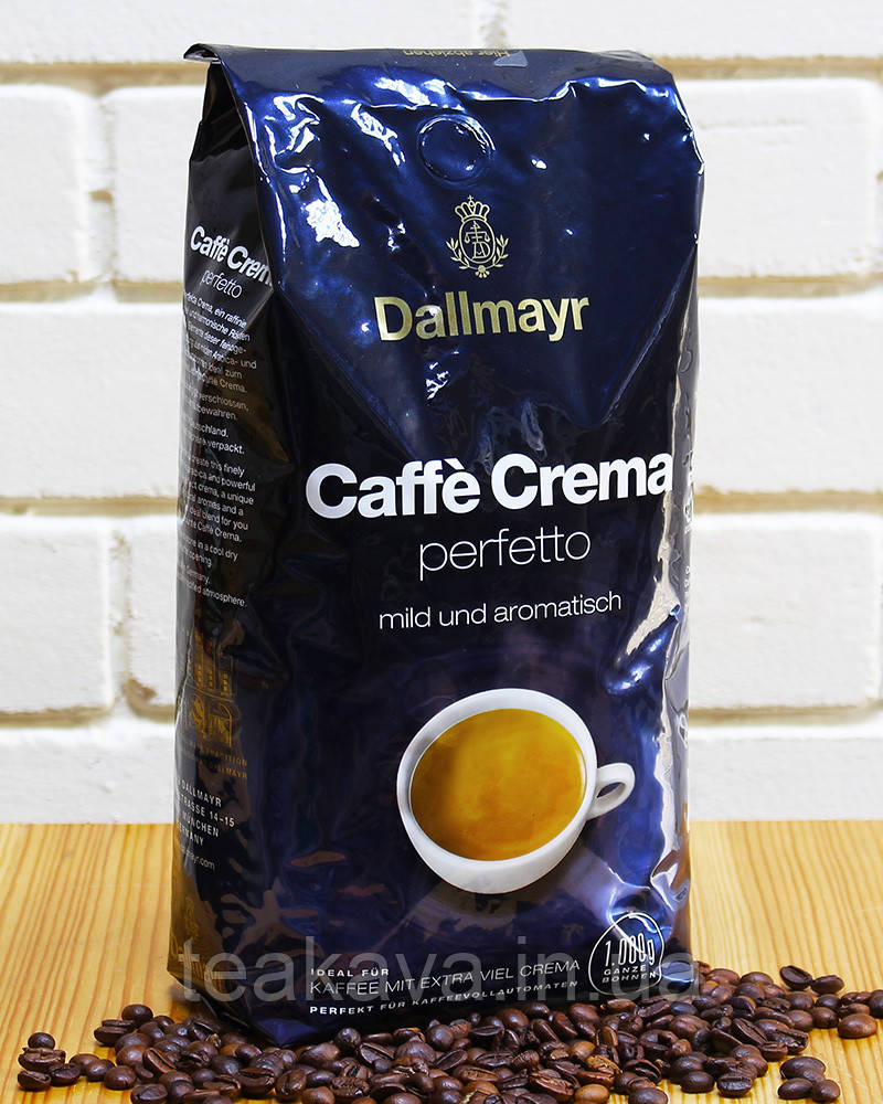 Кофе в зернах Dallmayr Caffe Crema Perfetto, 1 кг (арабика/робуста)