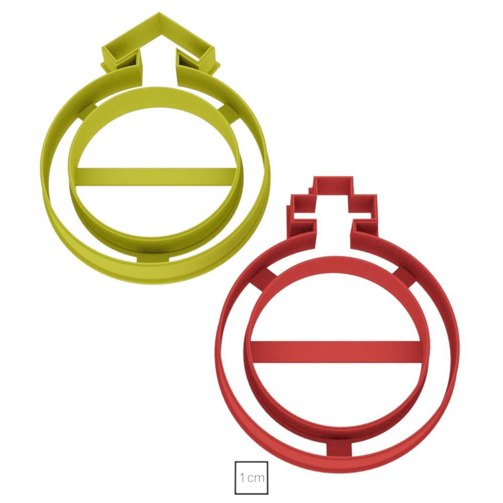 Висічка для пряників у вигляді знаку OFF та ON