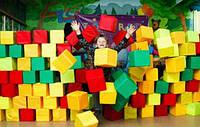 Поролонові кубики в чохлах і без будь-яких розмірів для дитячих ігрових кімнат, фото 1