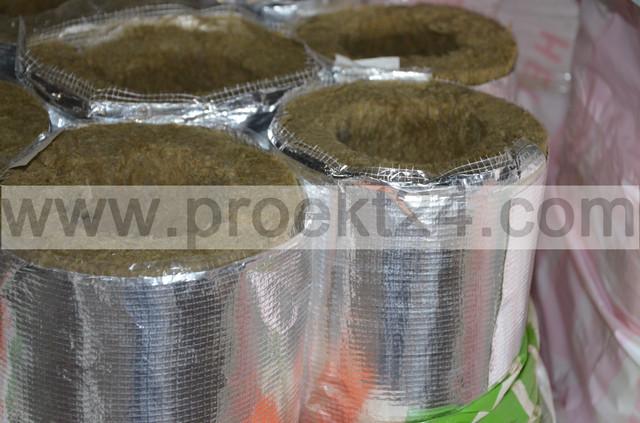 базальтовая скорлупа с фольгой, базальтовые цилиндры с фольгой