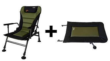 Кресло карповое Novator SR-2 Comfort + подставка Novator POD-1 Comfort, фото 2