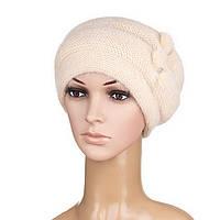 Вязаная женская шапка Nella ангора цвет бежевый светлый, фото 1