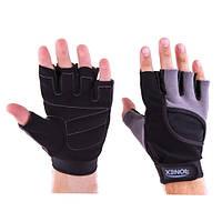 Перчатки атлетические черно-серые Ronex RX-05, размер L
