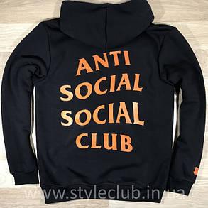 Толстовка чёрная Paranoid Anti Social Social Club | Худи ASSC | Кенгуру АССЦ, фото 2