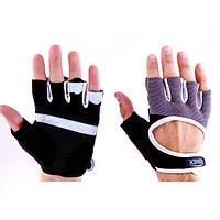 Перчатки атлетические черно-серые Ronex RX-01, размер M